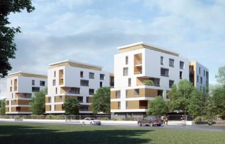 Conception / réalisation des logements, d'un local associatif et de parkings Quartier «Les Epinettes», bords de Marne, NOISY LE GRAND