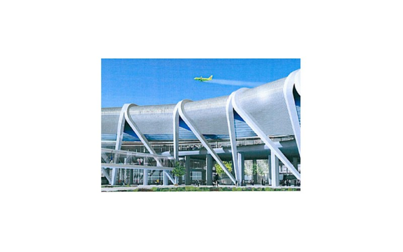 Construction du Nouvel Aérogare Internationale de l'Aéroport de Novossibirsk, en fédération de Russie