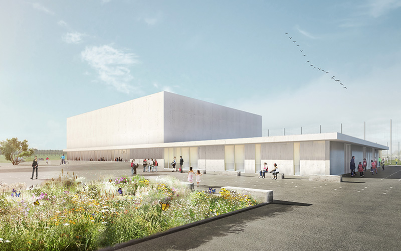 Salle omnisports, Genech - Architecte Delzua+