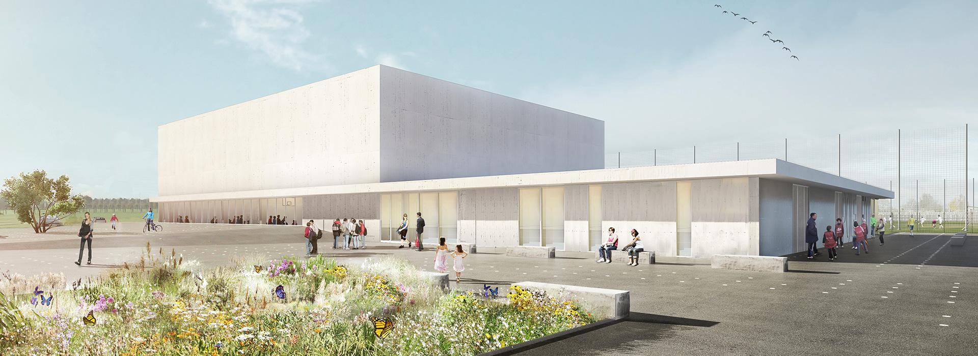 Salle omnisports de genech, delzua+ architectes, gec ingénierie