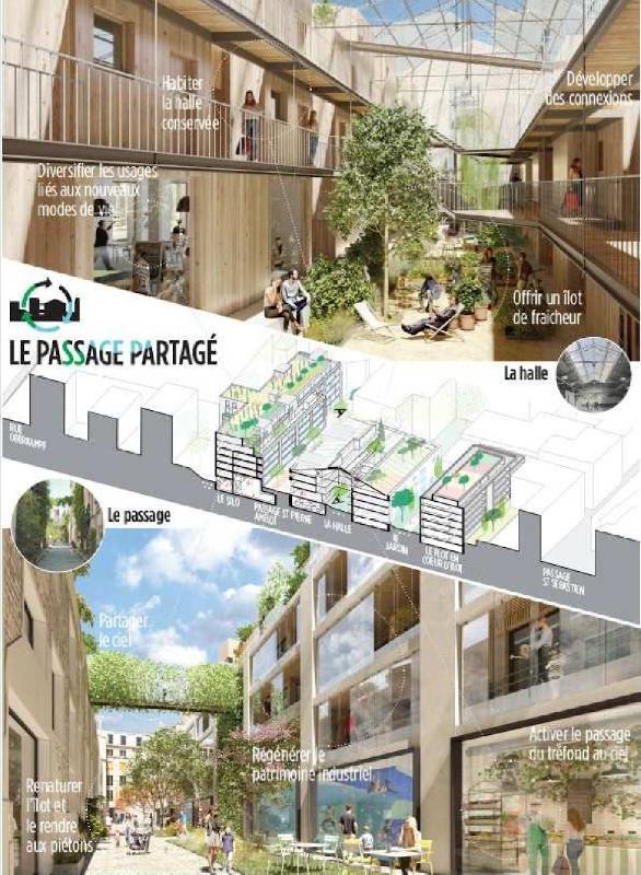 Construction de 135 logements et des locaux commerciaux d'activités Passage Saint Pierre Amelot à Paris